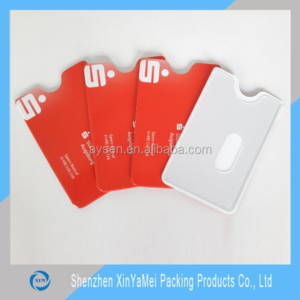 CMYK printed plastic rigid pvc credit card holder
