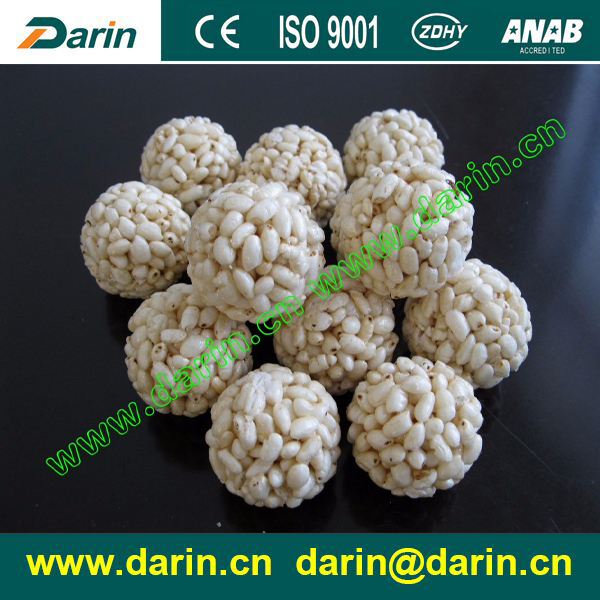 Puffed rice candy cake production line/ popcorn ball forming machine