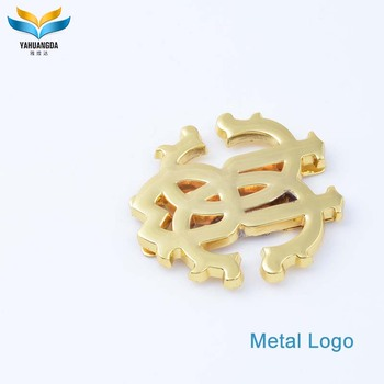 wholesale new product customized fashion metal bag label for bag making accessories in Guangzhou China