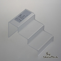 Clear acrylic countertop small table staircase display shelves for counter,retail shop display