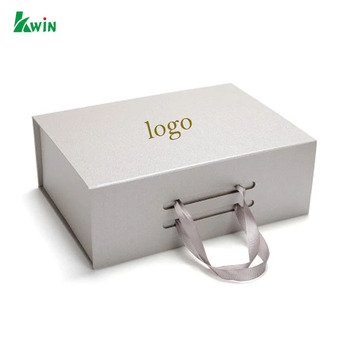 Foldable With Ribbon Wholesale Cardboard Packaging Luxury Custom Paper Magnetic Gift Boxes