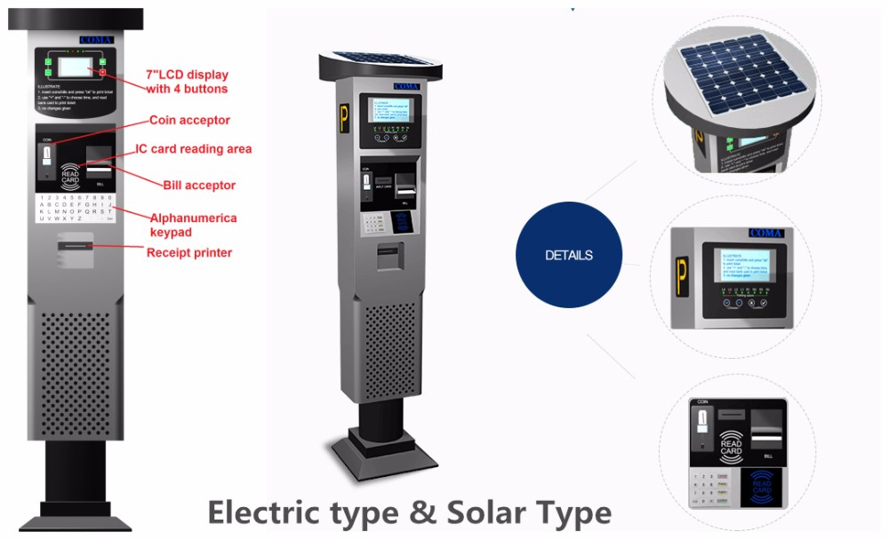 Solar powered design car parking meter