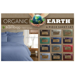 1800 Series 6 Piece Organic Earth Aloe Vera bamboo sheet set