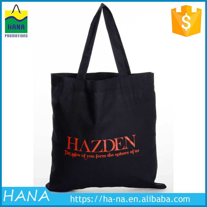 Alibaba hot sale cotton tote bag, black cotton bag