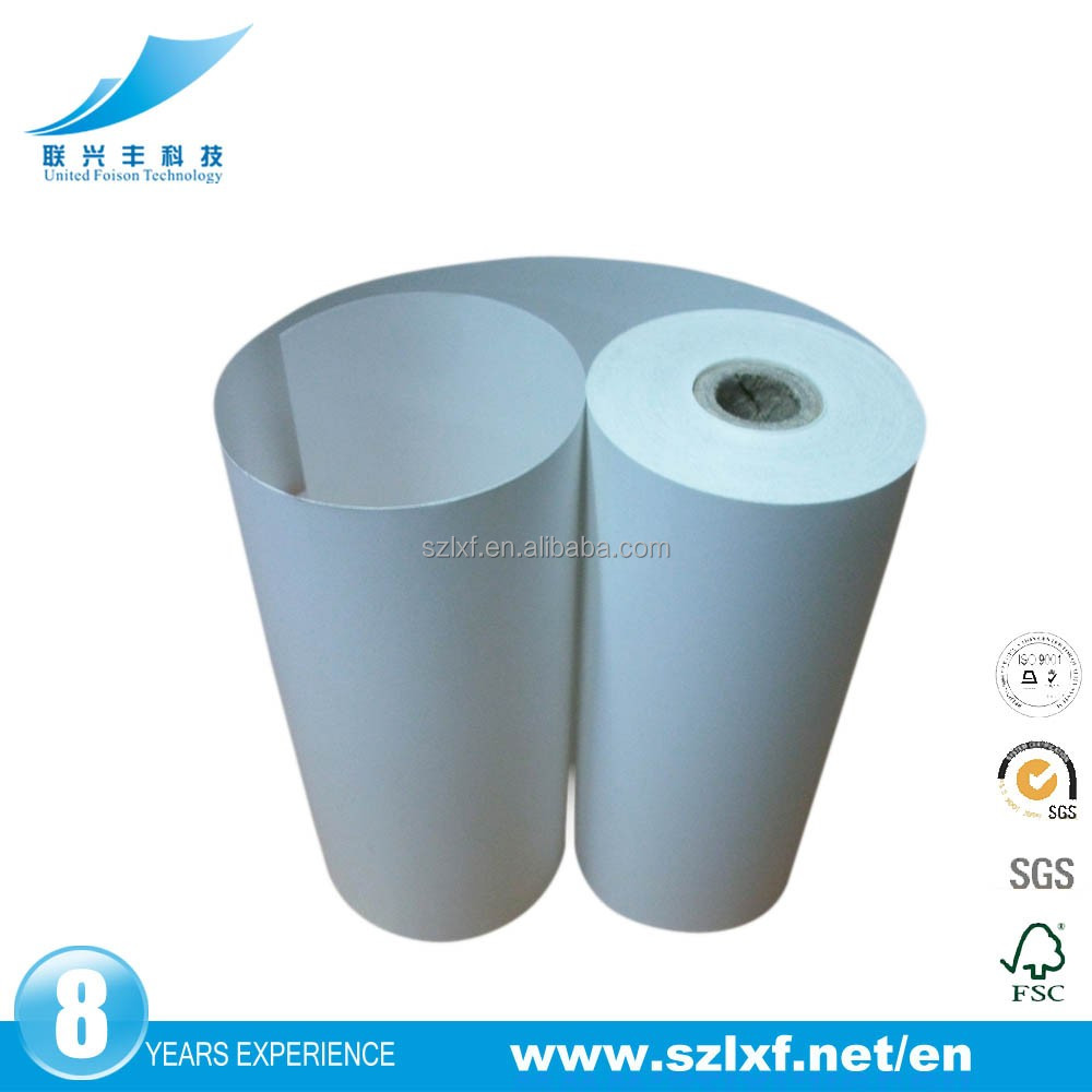 Directly self adhesive ultrasound printer paper for hospitality