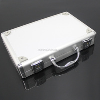 customized size storage carrying briefcase transparent Aluminum tool case