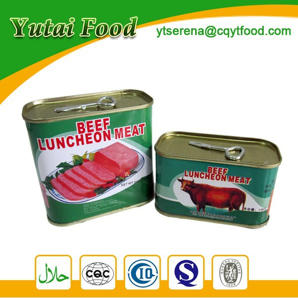 Beef Products Tinned Factory Halal Meat