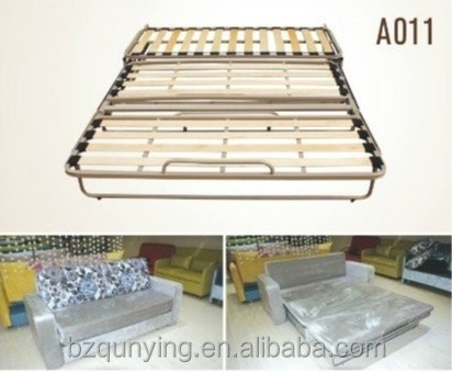 Steady structure folding steel bed frame