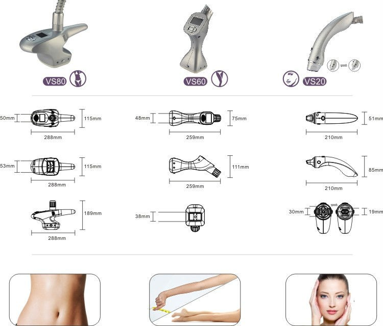 Manufactory Portable Vacuum Roller +bipolar Rf+ Infrared Laser Cellulite Reduction Beauty Equipment