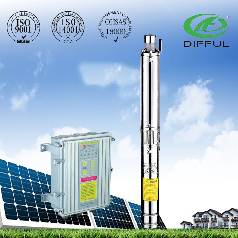 "2"" solar water pump deep well submersible solar power pump"