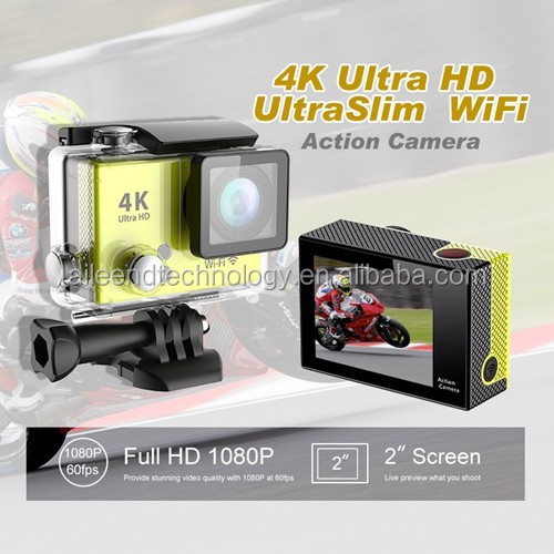 Slim Underwater waterproof 4K Ultra HD WiFi sport action camera