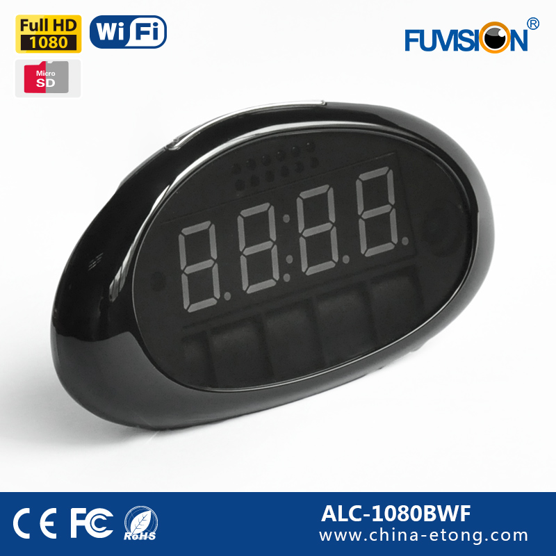 small night vision camera mini hidden wifi clock camera