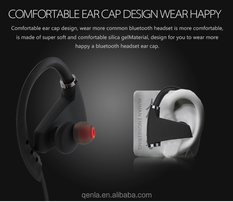 2017 Christmas Gift New IPX7 Waterproof Bluetooth Stereo Headsets with CE FCC ROHS Certificate