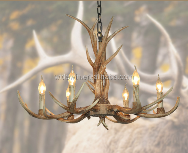 Antler chandeliers rural style living room bedroom lighting lamps european-style lanterns antlers creative droplight
