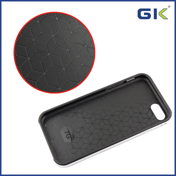 [GGIT] Hit Color Carbon Fibre TPU With Holder Border PC Hybrid Cover For IPhone 7 Cell Phone Case