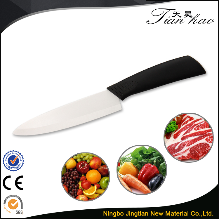 "6"" Slicing Non-slip Handle Kitchen Ceramic Kitchen Knife Blanks"