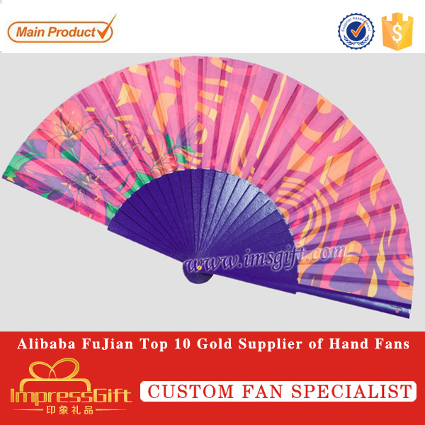 customise wooden handheld fan with for promotion or event