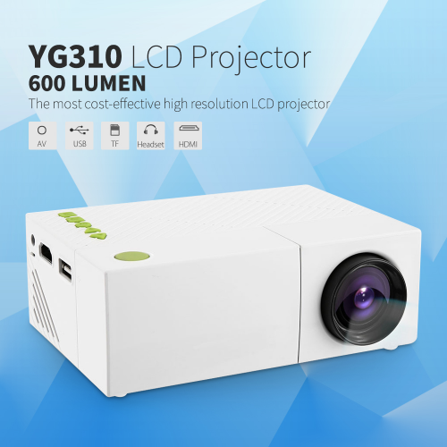 YG310 Portable LCD <strong>Projector</strong> HD 400-600 LM 1080P AV USB SD HDMI Video LED Mini <strong>Projector</strong> Smart Home Theather Video Projetor