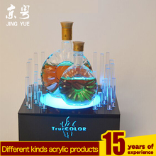 Factory custom pmma led wine bottle base acrylic led bottle base