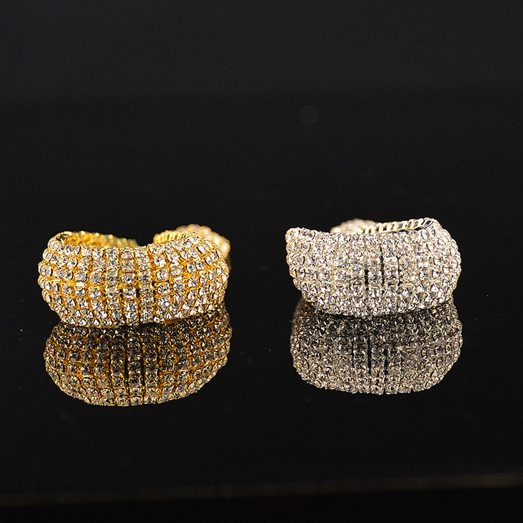 Womens Luxury Wholesale Full Crystal Rhinestone Shiny Iced Out Bracelet