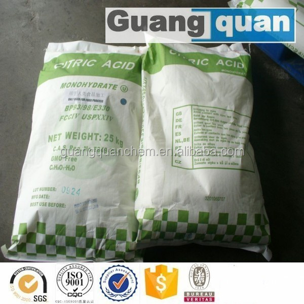 Supply anhydrous citric acid , 99% monohydrate citric acid