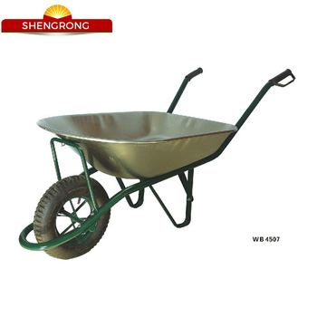 Two Wheel Heavy Duty Construction Tools Wheelbarrow