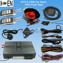 Two Way Car Alarm With PKE LCD Remote Control