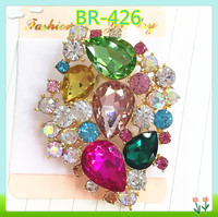 fashion new collection initial crystal brooches and pins