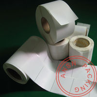 Plain direct thermal self-adhesive label