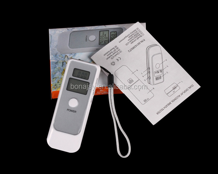 Digital dual LCD indication alcohol tester breathalyzer