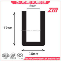 Black Soft U Channel Rubber Edge Trim