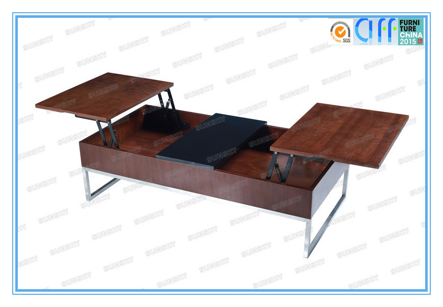 High quality HOT SALE modern functional lift top wood coffee table with storage 4252