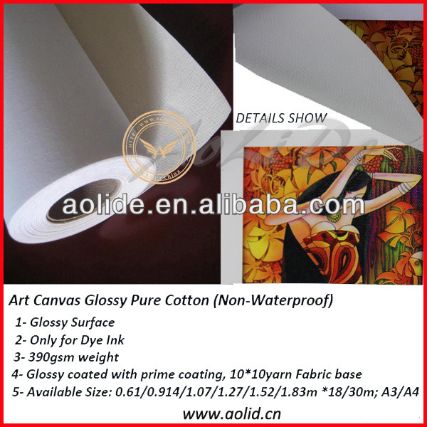 glossy poly-cotton oil painting canvas roll