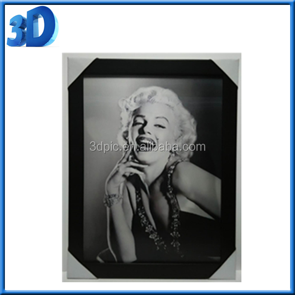 3d lenticular flip effect picture of Marilyn Monroe