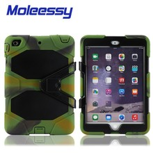 Military defender silicone tablet case for Ipad Mini 123
