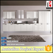White lacquer high gloss kitchen cabinet wiht kitchen pantry cupboards and high kitchen backsplash