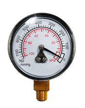 Trade Assurance No Glycerin Filling Diaphragm mbar Low Pressure Gauge for Steel Pipe