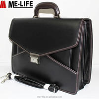 Business Men Leather Classic Briefcase Men
