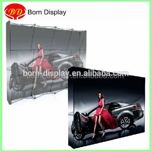 Folding Aluminum Poles Two Light Straight Fabric OP UP Banner for Wall Backdrop Advertising Display