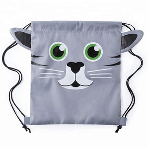 2018 new design drawstring backpack animal cartoon backpack children school backpack