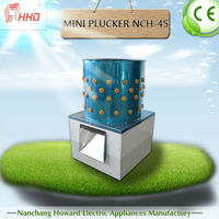 CE Approve full-automatic cheap price chicken feather poultry plucker mini quail plucker for selling NCH-45