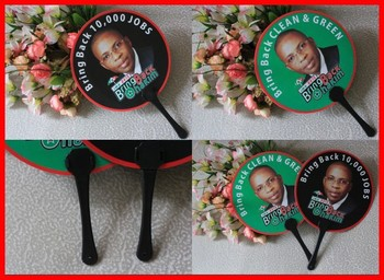 Round plastic hand pp fan for gift or promotion