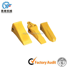 Excavator bucket ripper teeth for construction equipment
