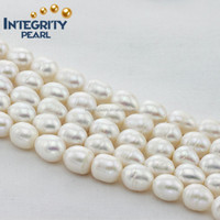 11-12mm can make large hole rice shape cultured freshwater pearls