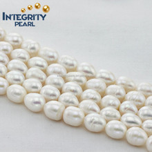 11-12mm pearl rice can make large hole rice shape cultured freshwater pearls