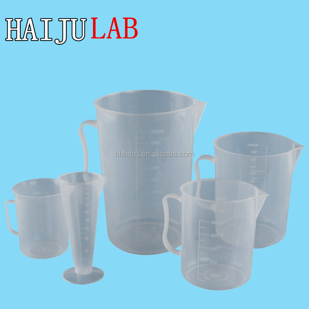 HAIJU LAB China Factory Directly Digital Chemical Measuring Cup With Disposabled