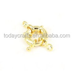 13MM Jewelry Making Findings gold plated Brass Spring Clasps Fashion brass jewelry findings