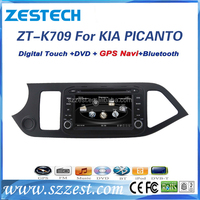 "7"" special touch screen for kia picanto 2014 Car radio with DVD Player GPS navigation bluetooth RDS SD"