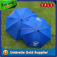 Promotional market golf umbrella with blue color fabric