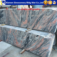 Sanxia red granite slabs with very beautiful designs
